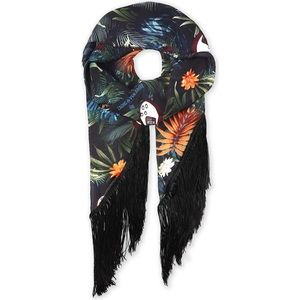 Zadig & Voltaire SILKY FRINGES JUNGLE SCARF